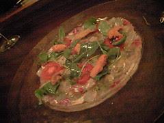 さくら鯛のカルパッチョ@OSTERIA PRIMEUR