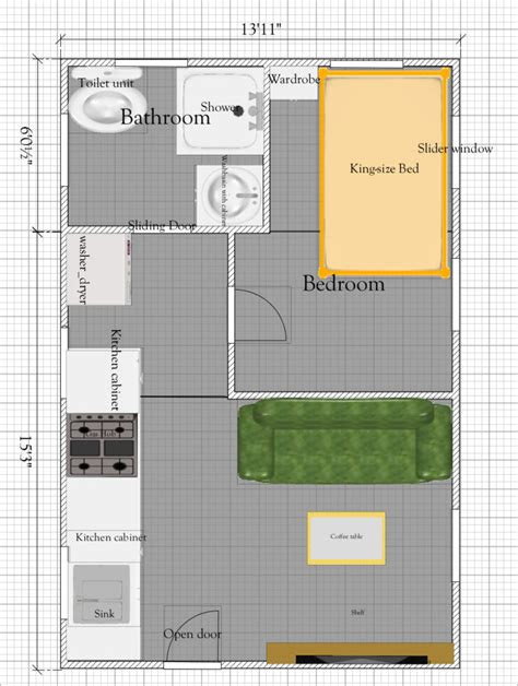 tiny house plan   sq ft  tiny house floor plan