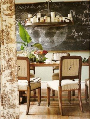 heather chadduck dining room by junkgarden, via Flickr; chairs numbered