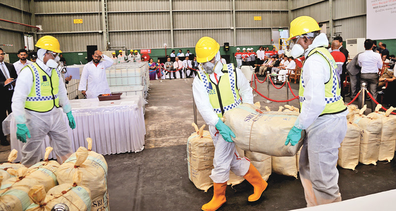 Largest haul of seized cocaine destroyed