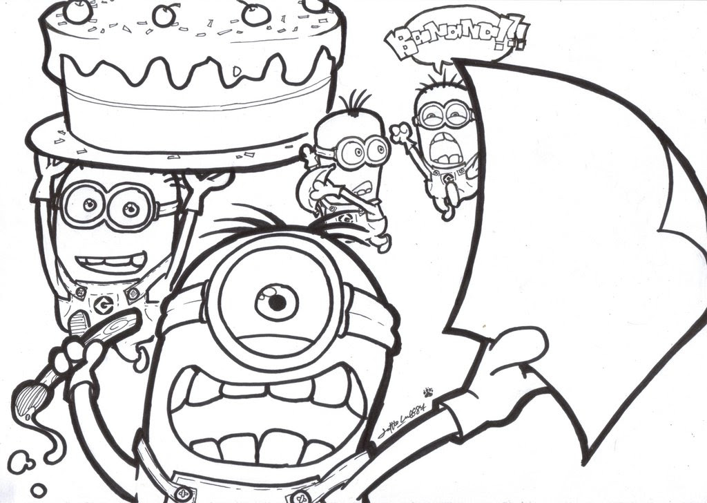 Minion Drawing Template At Getdrawingscom Free For Personal Use