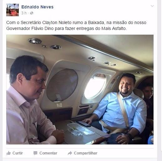 Secretário Clayton Noleto e o adjunto Ednaldo Neves