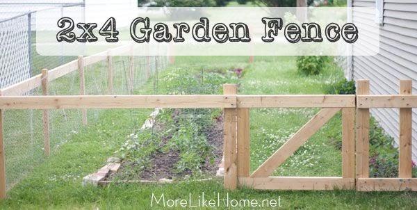 more like home 2x4 garden fence. Black Bedroom Furniture Sets. Home Design Ideas