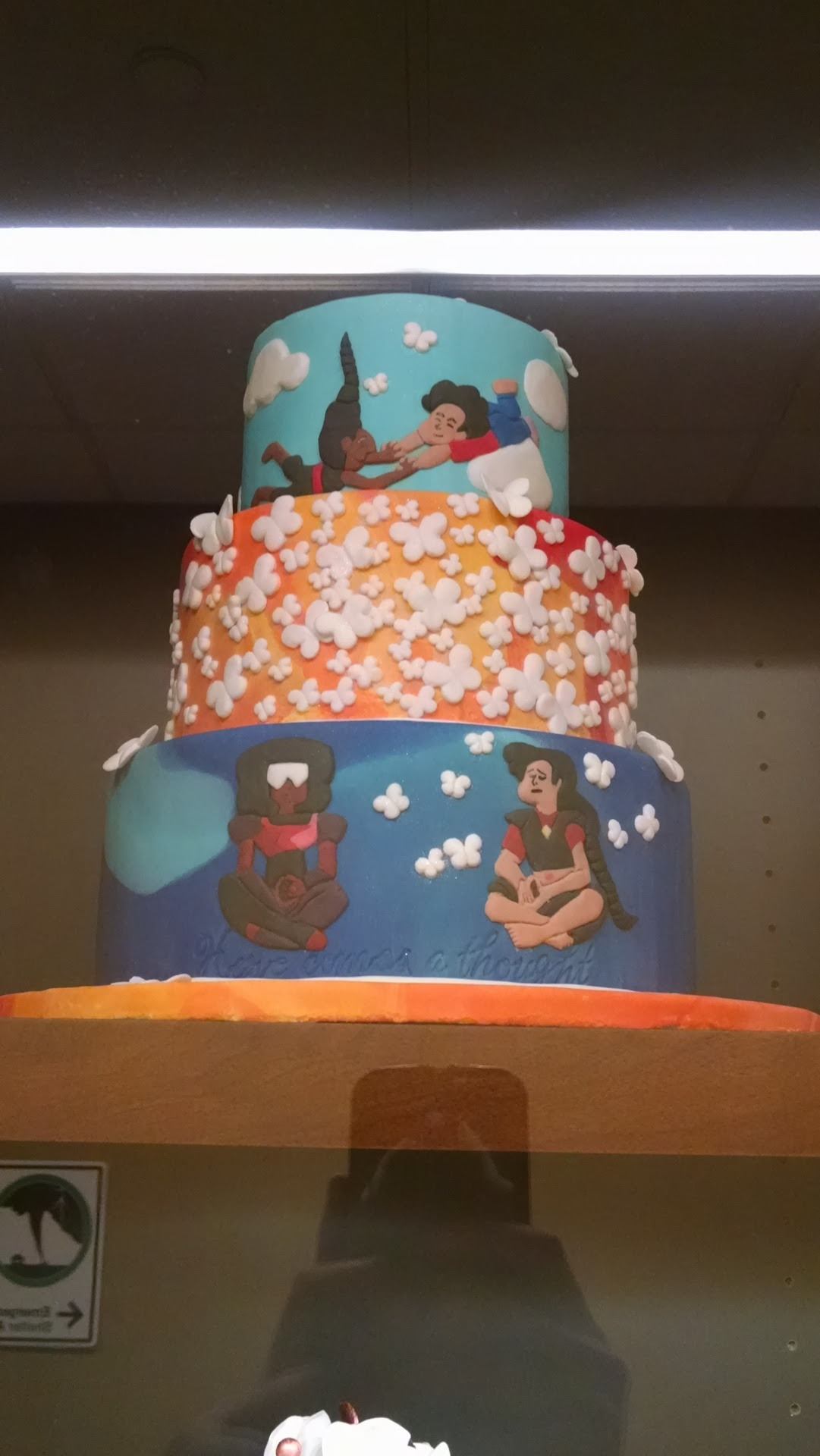 Someone at my college made a Connie/ Steven/Stevonnie/and Garnet cakeee!! Person, if you're here! Credit yourself, it's beautiful!
