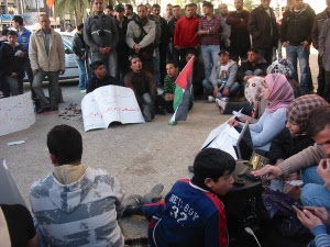 Plantón por la unidad política en Nablus (marzo 2011)