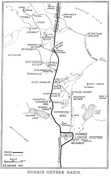 Geyser Bob's Yellowstone Park History Service - Maps