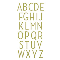 Perfect Print Alphabet Bigz Die