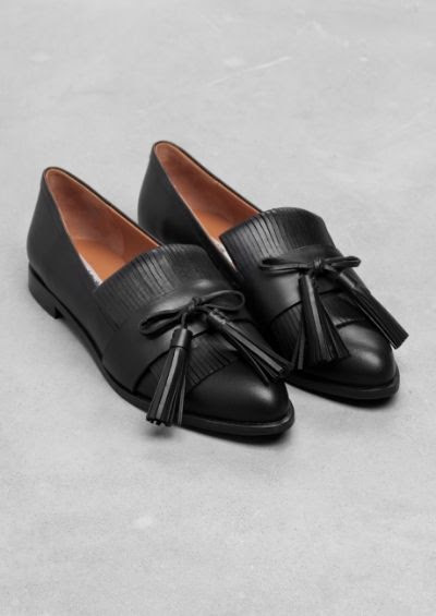 & Other Stories Tassel Leather Flats