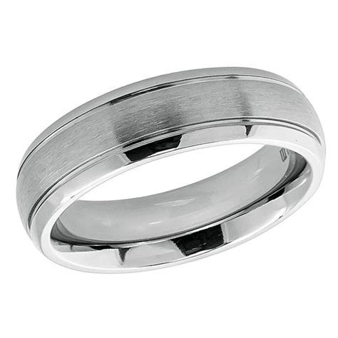 Men's 6mm Titanium Wedding Band Engagement Ring Domed