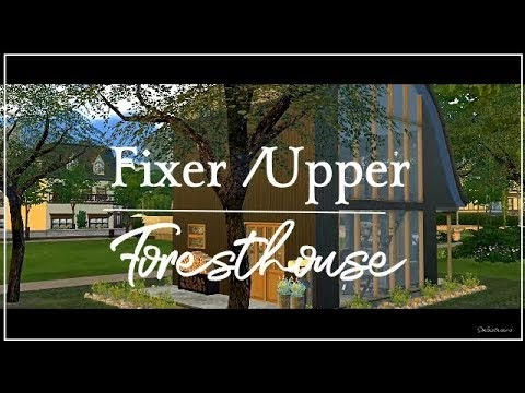 SIMS 4 ||SPEEDBUILD ||FIXER/UPPER FORESTHOUSE [DOWNLOAD incl. Full CC]