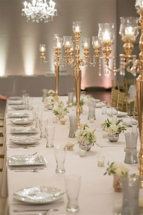 Gold Candelabra Dining Table Centerpieces   Hafner Florist