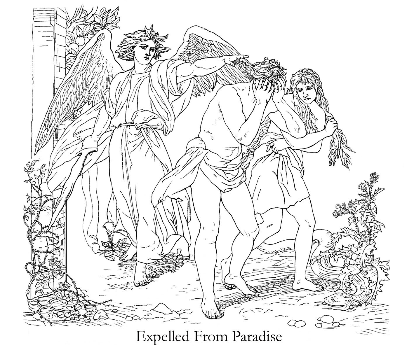 Adam and Eve Coloring Pages   Bible coloring pages, Coloring pages ...   1200x1394