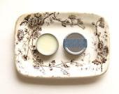 Organic Beard Butter // Timber Mint // Mens Beard Oil Beard Balm Rustic Blue Vintage Brown Beard Conditioner