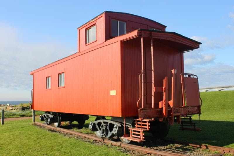 Borden station and caboose, PEI