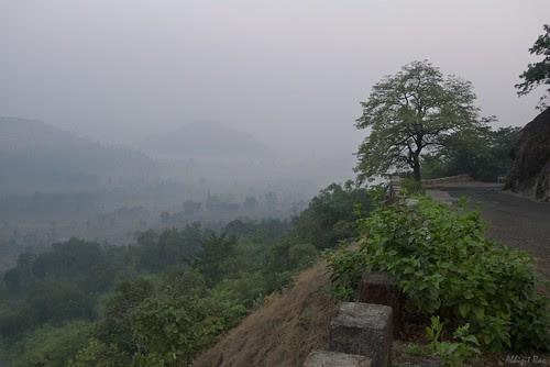 Fog shrouded valley