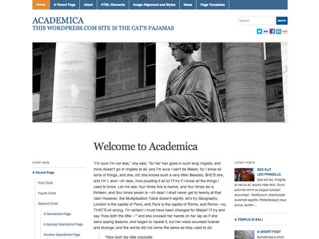Academica Theme Free Download