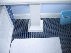 Daughter's bathroom floor