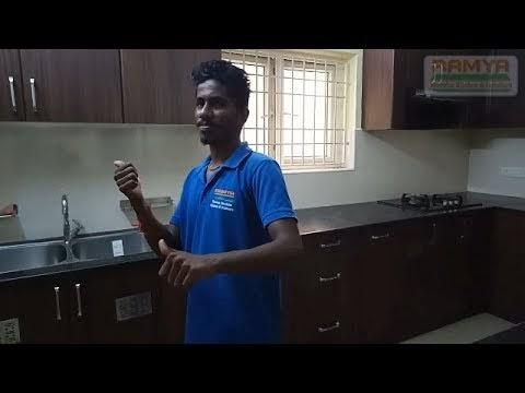 Walnut Colour Matte Finish  Ramya Modular Kitchen