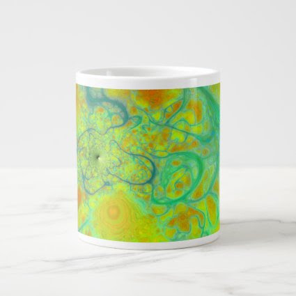 The Green Earth – Teal & Gold Tides Jumbo Mug