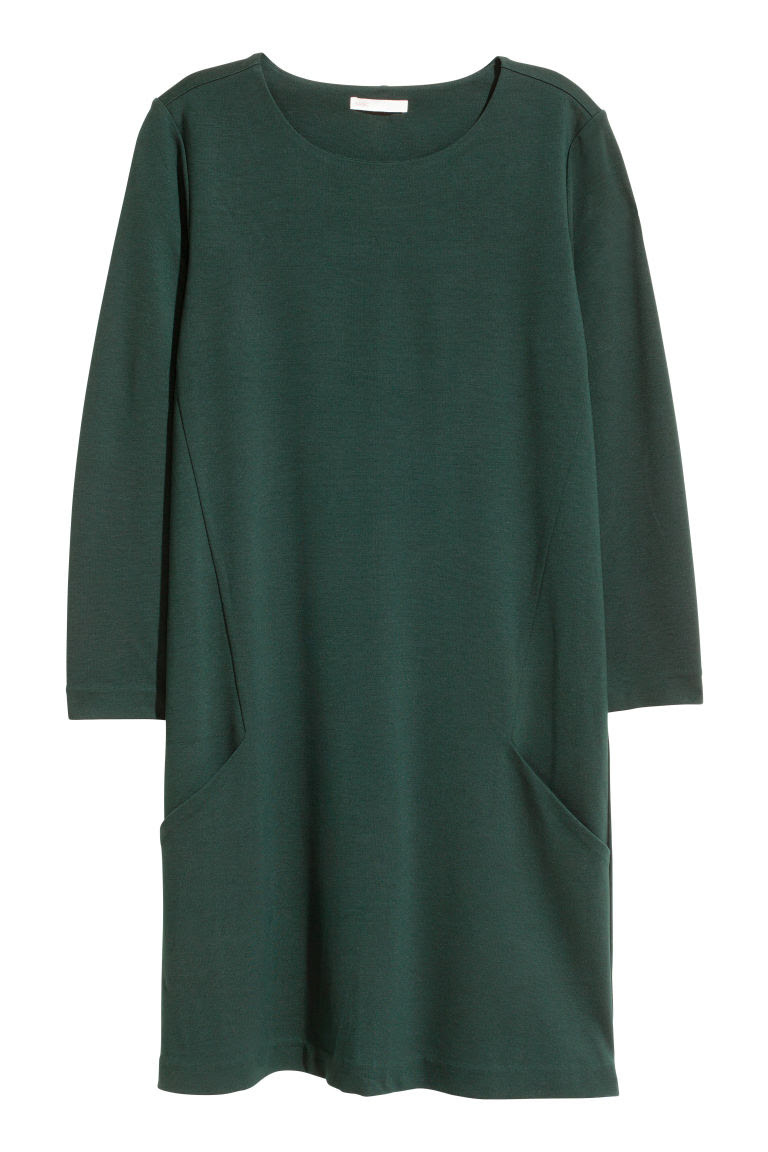 Jersey dress - Dark green - | H&M GB 2