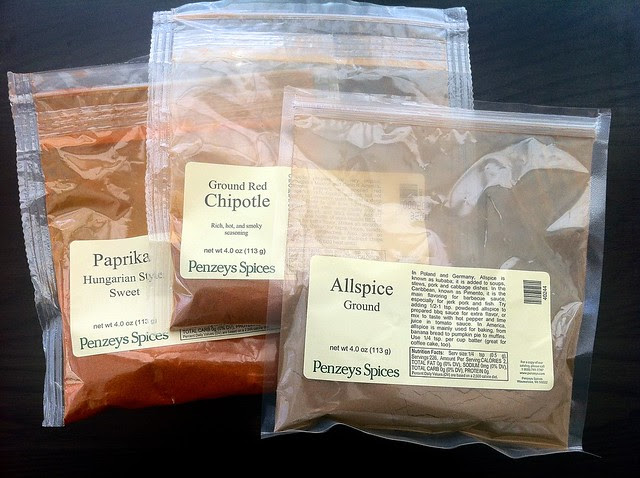 Bags of Penzeys Spices