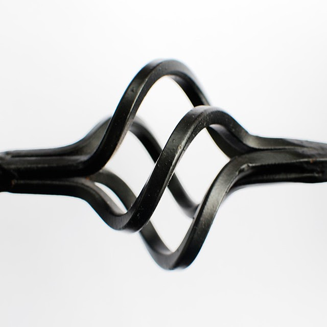 Abstract of part of a candlestick holder