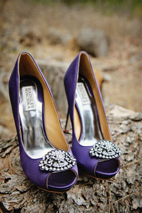Badgley Mischka purple wedding shoes (a favourite repin of