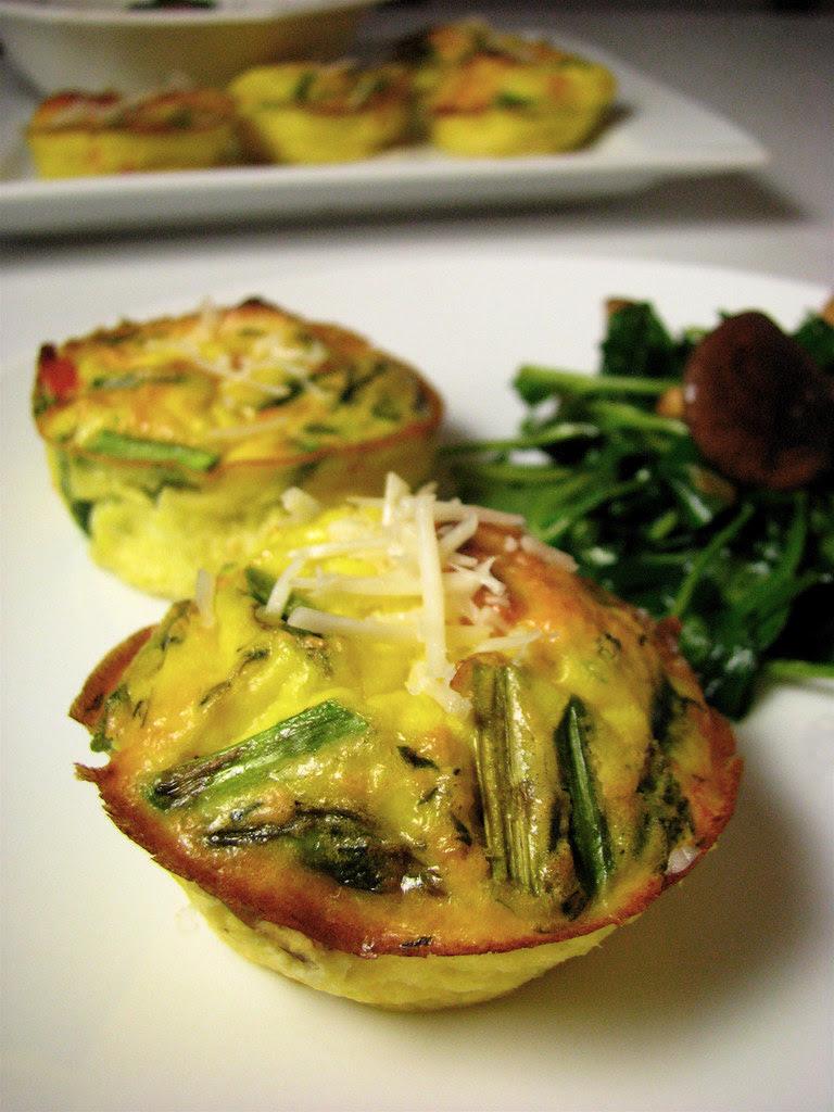 Salmon and asparagus frittata