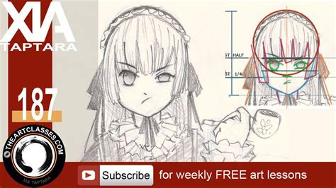 draw face anime style girl  youtube