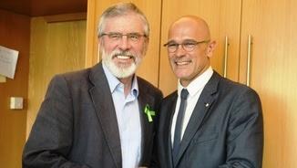 Adams i Romeva, aquest dimecres, al Parlament irlandès (ACN)