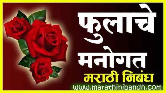 फुलाचे मनोगत मराठी निबंध | Fulache Manogat Nibandh Marathi