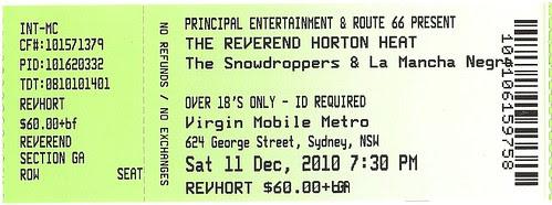 reverend horton heat ticket 2010