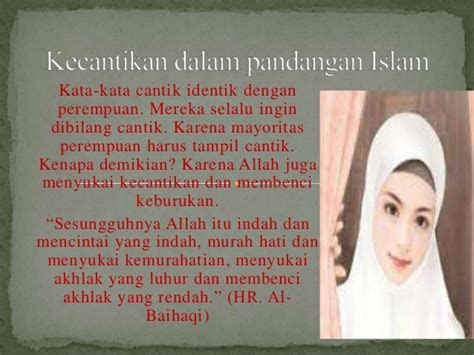kecantikan  pandangan islam
