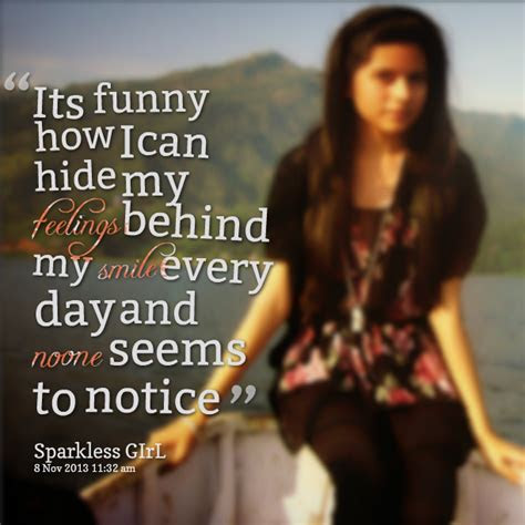 Quotes Hiding Your Feelings Behind Smile