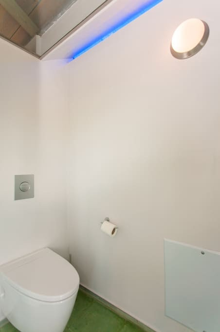 The bathroom on the top floor.