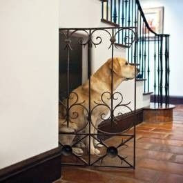 Dog house under stairs. So much better than a dog crate.