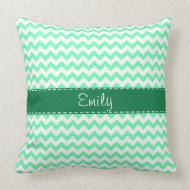 Mint Green Chevron Pillows