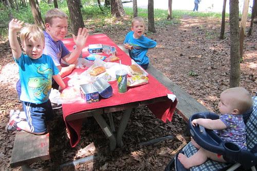 birthday picnic lunch