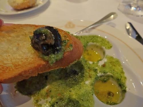 Escargot!  Very tasty!