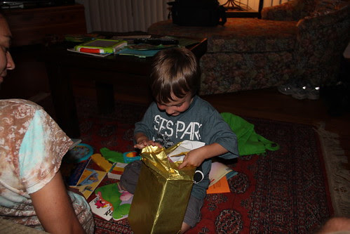 Olsen get a present for his birthday!