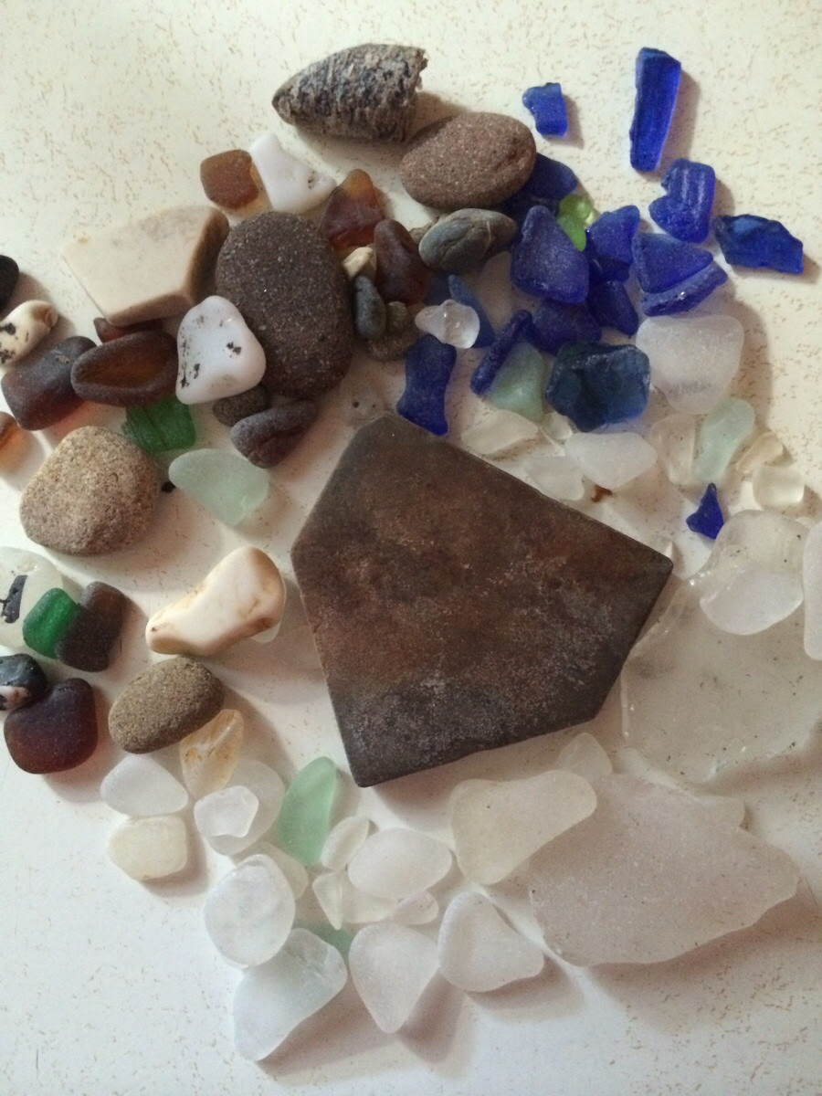 This Rock My Son Found At Glass Beach Looks Like Home Plate