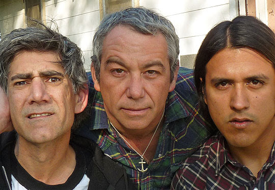 Mike Watt, center, will be joined by  Missingmen Tom Watson, left, and Raul Morales at Mercury Lounge in  Goleta on Sunday.