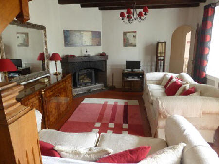 Lounge of Loire Valley house to rent