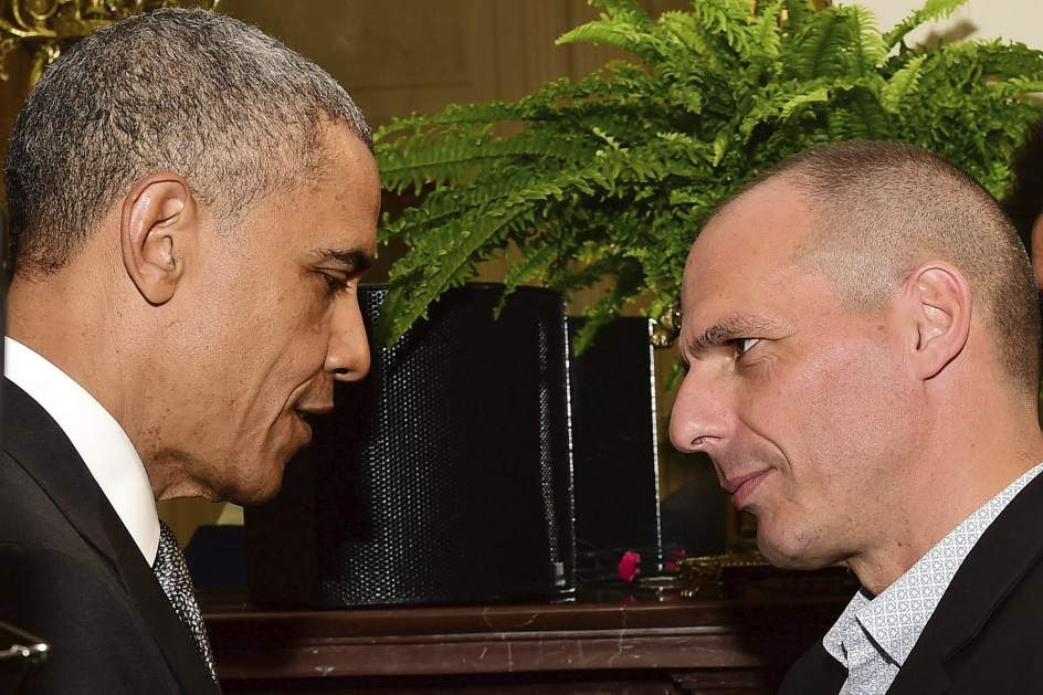 Obama y Varufakis, en la Casa Blanca
