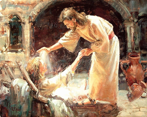jesus heals with power