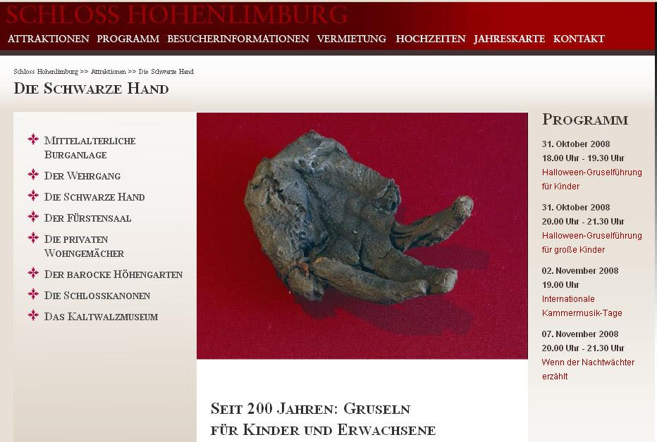 Die Mumien Hand Von Schloss Hohenlimburg Im Sauerland