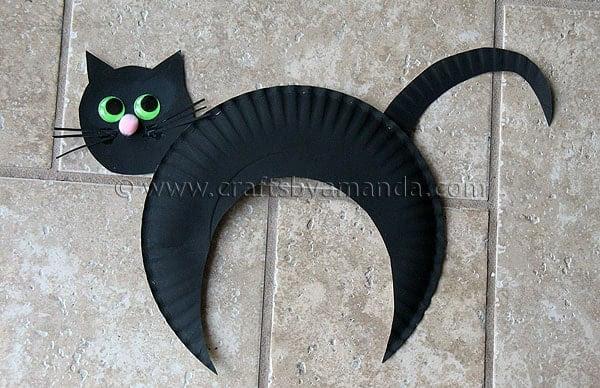 Papīra Plate Black Cat