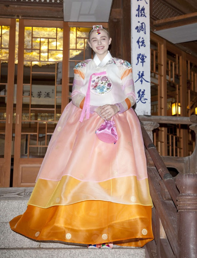 Chloe Moretz: Wearing a Traditional Dress -03