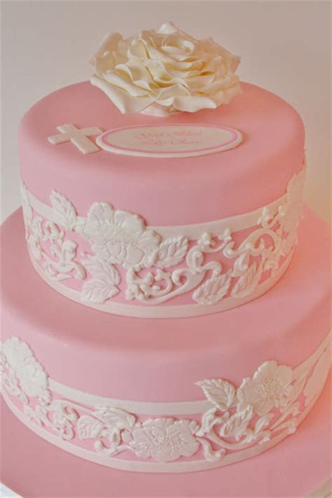 Christening and Baptism Cakes NJ   Lace Custom Cakes