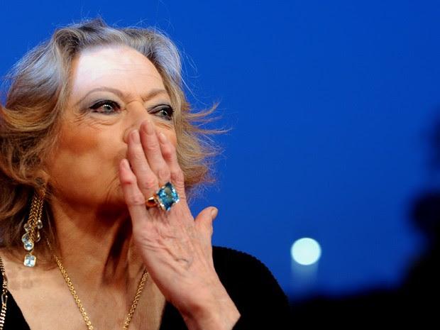 Anita Ekberg, em foto de 2010 (Foto: Tiziana Fabi/AFP)